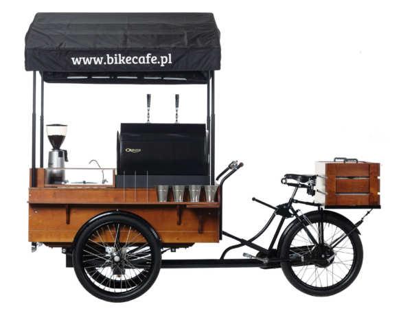 Studyjne zdjęcia rowerowej kawiarni Bike café