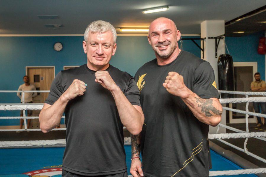 Trening bokserski Jacka Jaśkowiaka i Przemysława Salety