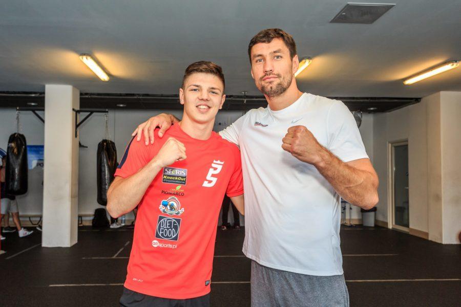 Trening bokserski z Patrykiem Szymańskim i Pawłem Kołodziejem