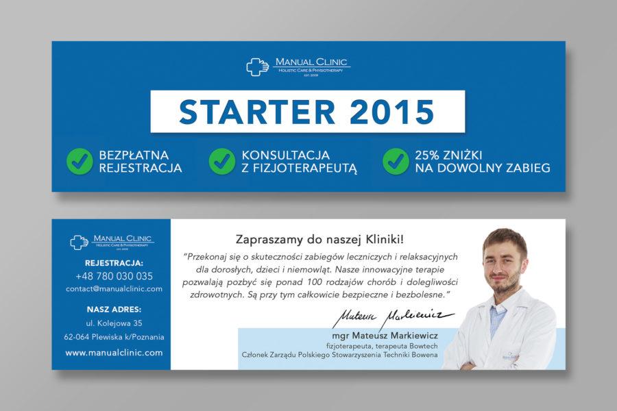 Bon promocyjny kliniki fizjoterapii Manual Clinic