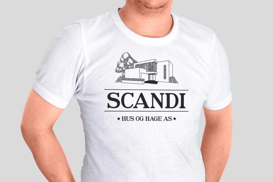 Koszulka pracownicza firmy Scandi Hus og Hage