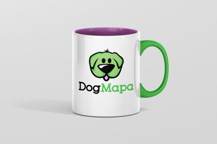 Kubek reklamowy portalu DogMapa