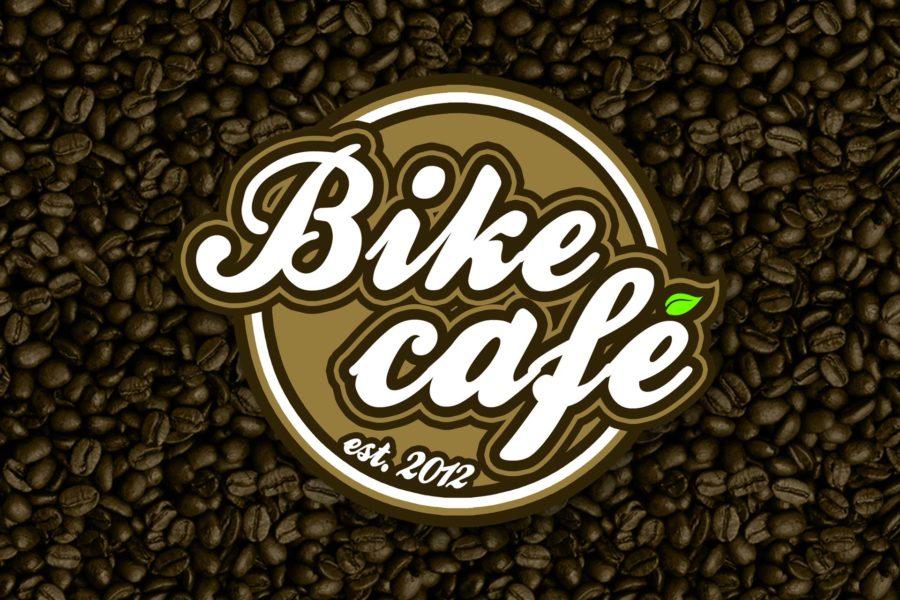 Logotyp rowerowej kawiarni Bike café