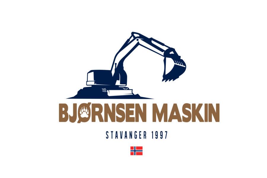 Logotyp firmy budowlanej Bjørnsen Maskin