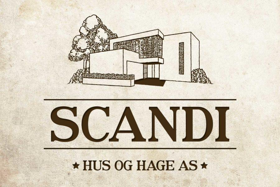 Logotyp firmy budowlanej Scandi Hus og Hage
