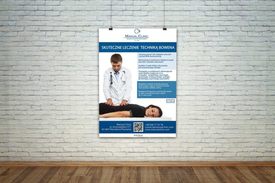 Plakat reklamujący zabiegi Techniką Bowena