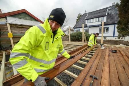 Reportaż z prac budowlanych firmy Scandi Hus og Hage