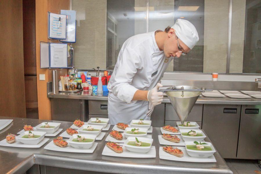 Sesja kucharzy restauracji Fusion w hotelu Sheraton Poznań