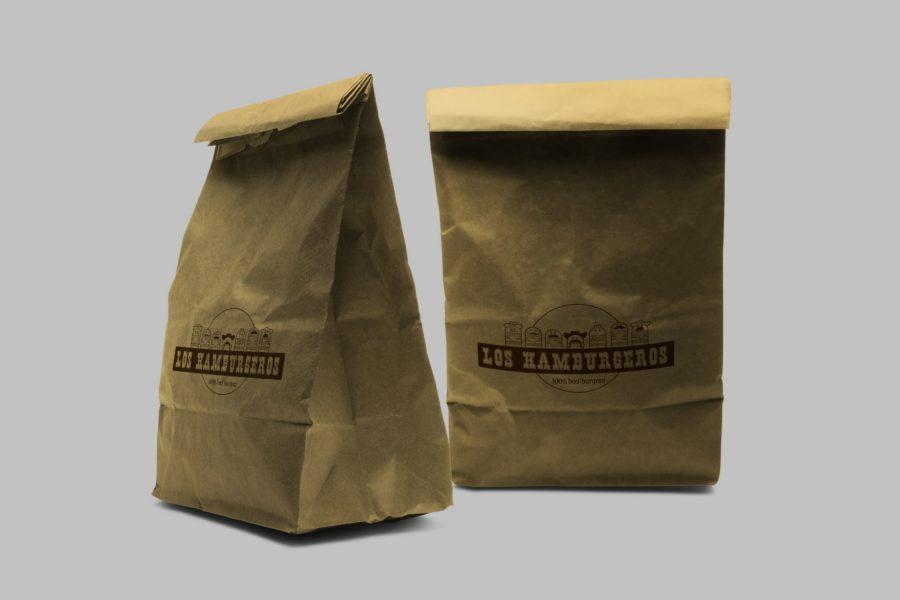 Torba papierowa firmy Los Hamburgeros
