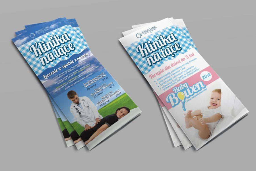 Ulotki promujące Letnią Klinikę Manual Clinic