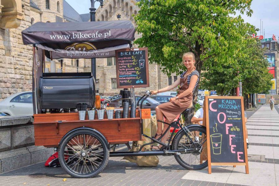 Sesja promocyjna z założycielami Bike café
