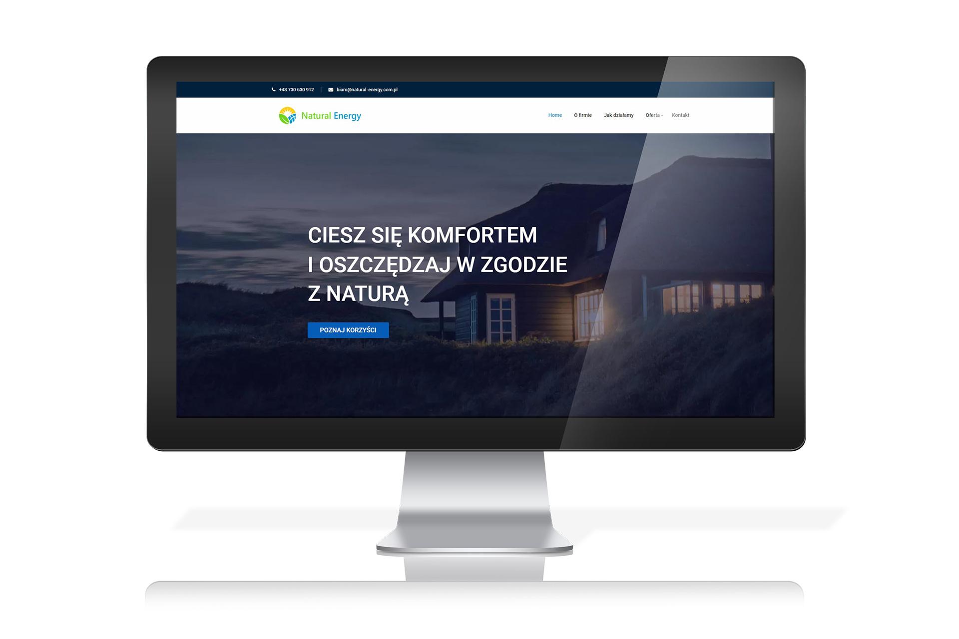 Firma wdrażająca systemy odnawialnych źródeł energii Natural Energy